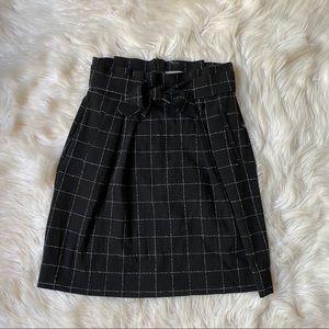 h&m women's black and white pencil skirt